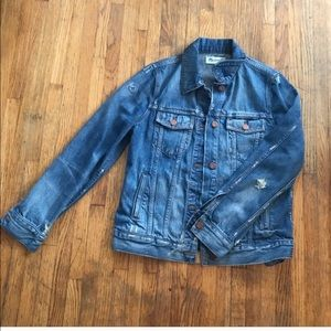 Madewell Distressed Denim Jacket.